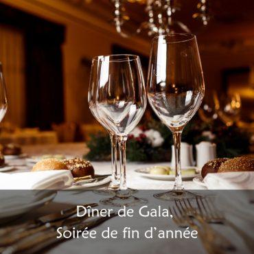 Soirée de fin d'année, dîner de gala