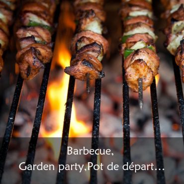 Garden party, barbecue, pot de départ